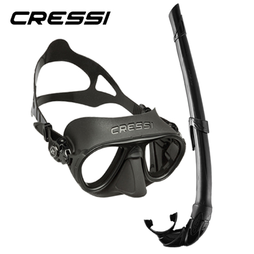 Cressi Kit Calibro And Corsica Black