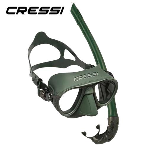Cressi Kit Calibro And Corsica Green